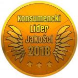 Złote godło Konsumencki Lider Jakości 2018